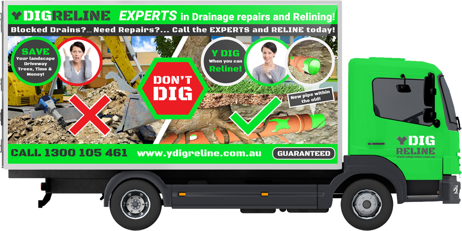 YDig Reline Experts in Drainage Repairs and Relining Truck
